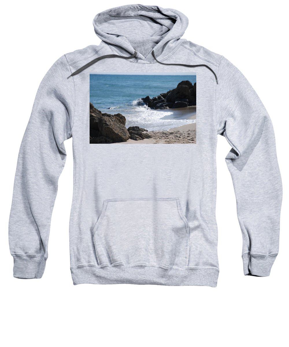 Sea Scape Sweatshirt featuring the photograph Ocean Rocks by Rob Hans