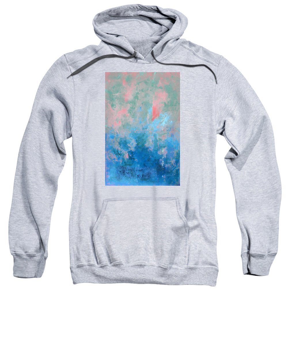 Abstract Sweatshirt featuring the painting Ocean Series Xxvii by Michael Turner