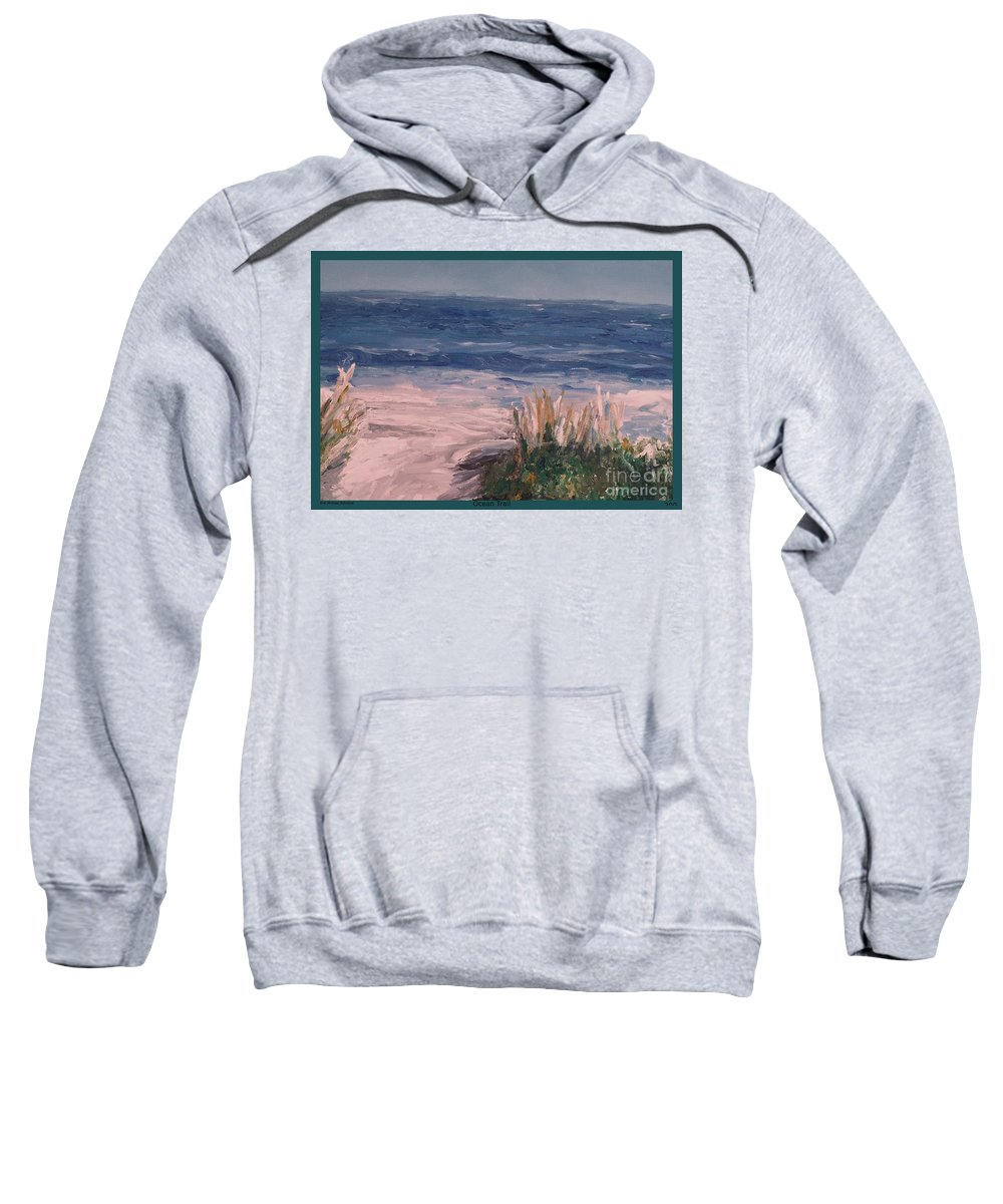 Ocean Sweatshirt featuring the painting Ocean Trail by Eric Schiabor