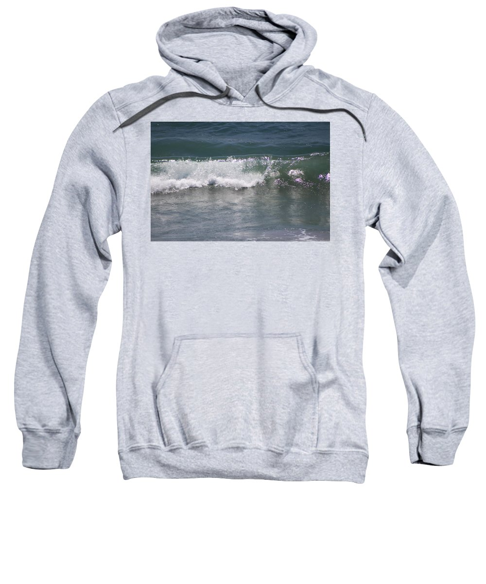 Ocean Wave Sweatshirt featuring the photograph Ocean Wave On The Pacific In Huntington Beach by Colleen Cornelius