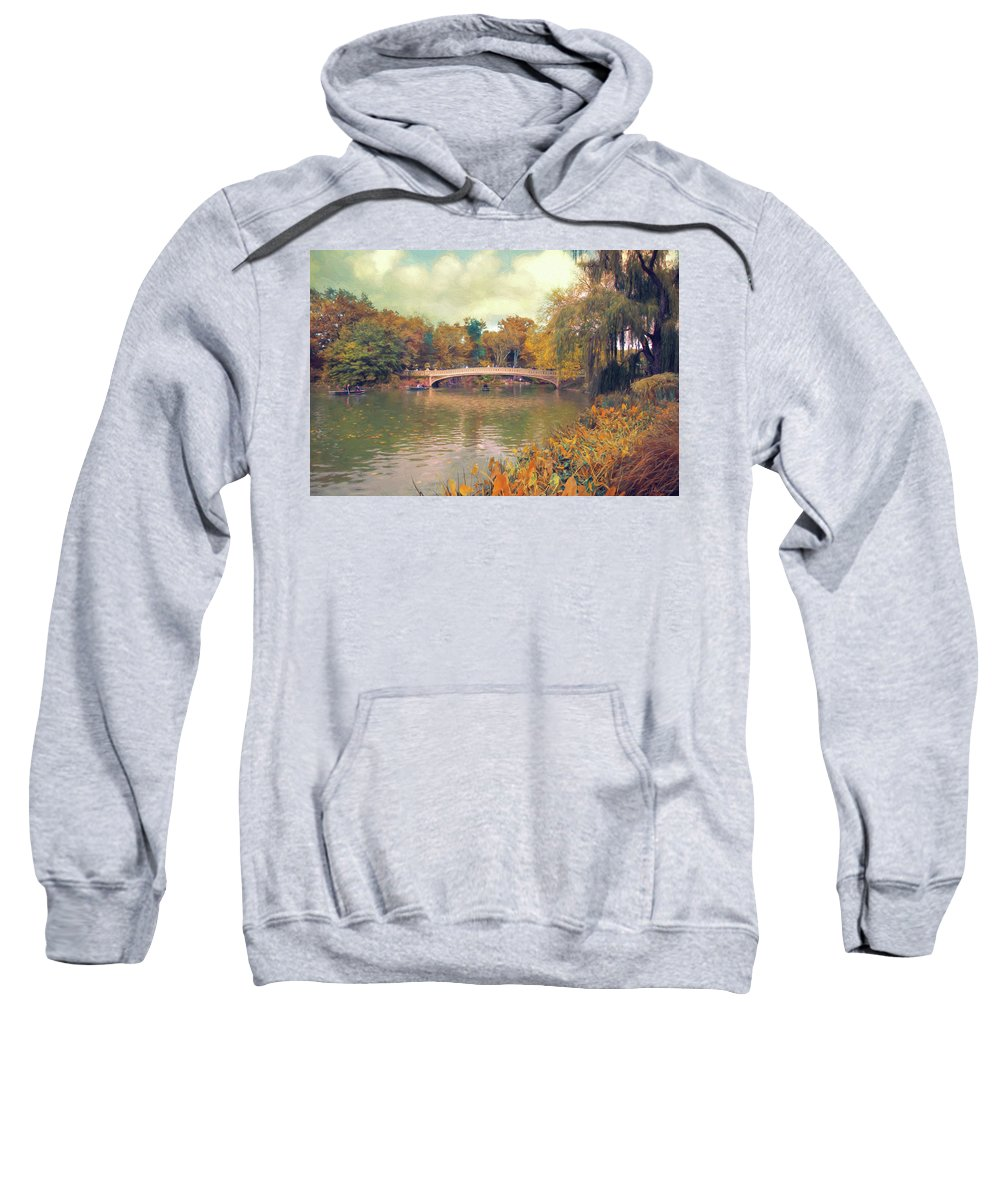 Central Park Sweatshirt featuring the photograph October In Central Park by John Rivera