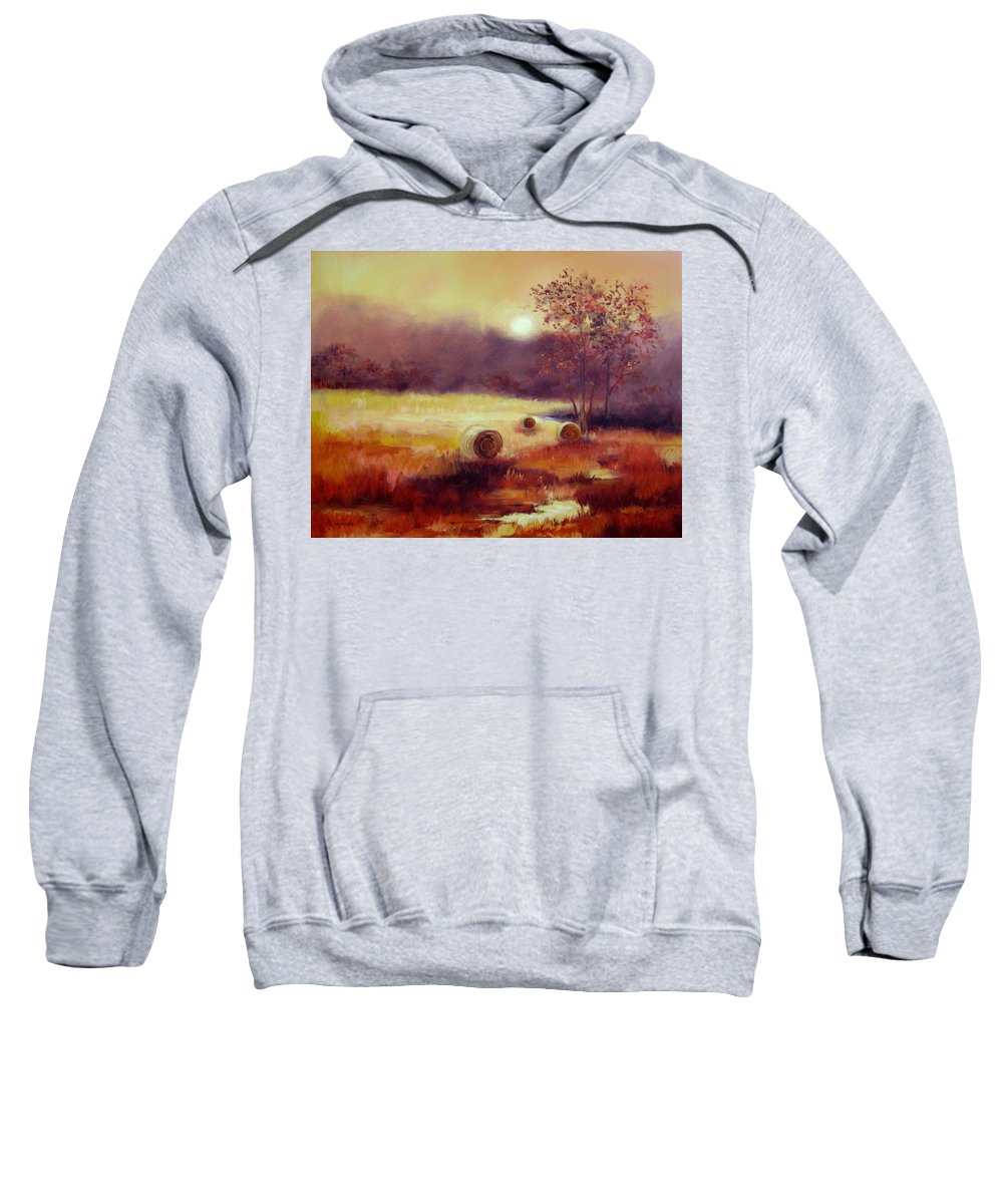 Fall Landscapes Sweatshirt featuring the painting October Pasture by Ginger Concepcion