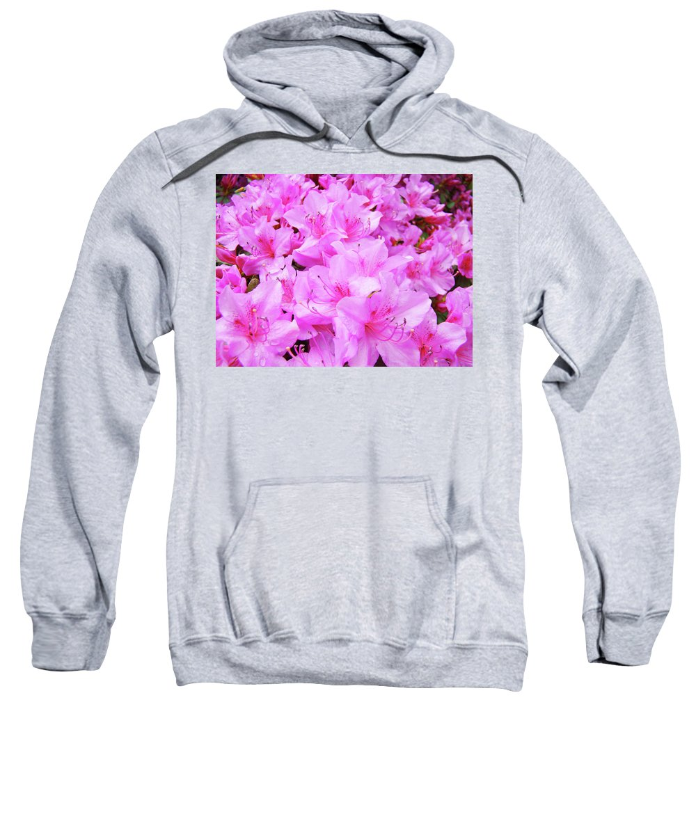 Azalea Sweatshirt featuring the photograph Office Art Azalea Flowers Botanical 31 Azaleas Giclee Art Prints Baslee Troutman by Baslee Troutman