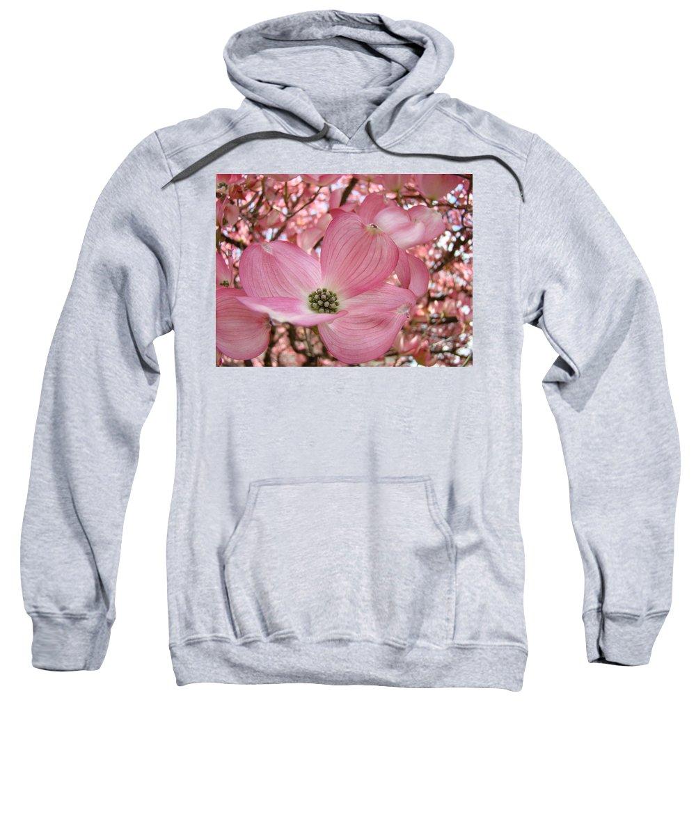Dogwood Sweatshirt featuring the photograph Office Art Prints Pink Flowering Dogwood Tree 1 Giclee Prints Baslee Troutman by Baslee Troutman