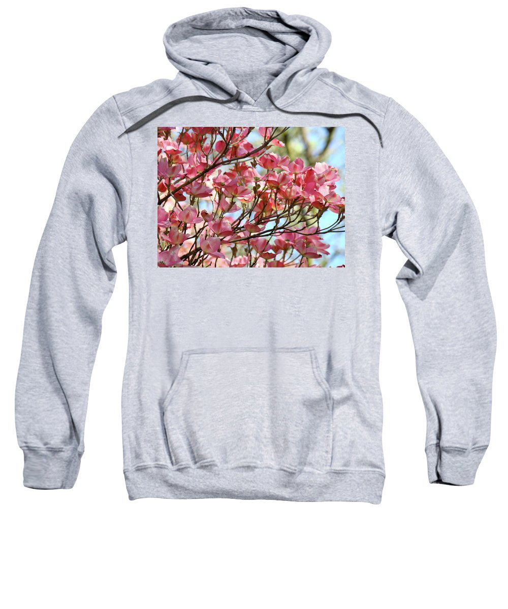 Dogwood Sweatshirt featuring the photograph Office Art Prints Pink Flowering Dogwood Trees 18 Giclee Prints Baslee Troutman by Baslee Troutman