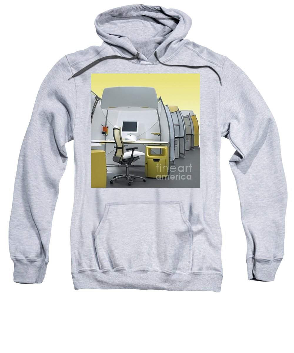 Sweatshirt featuring the photograph Office Funiture 3d Portfolio by Eric Schiabor
