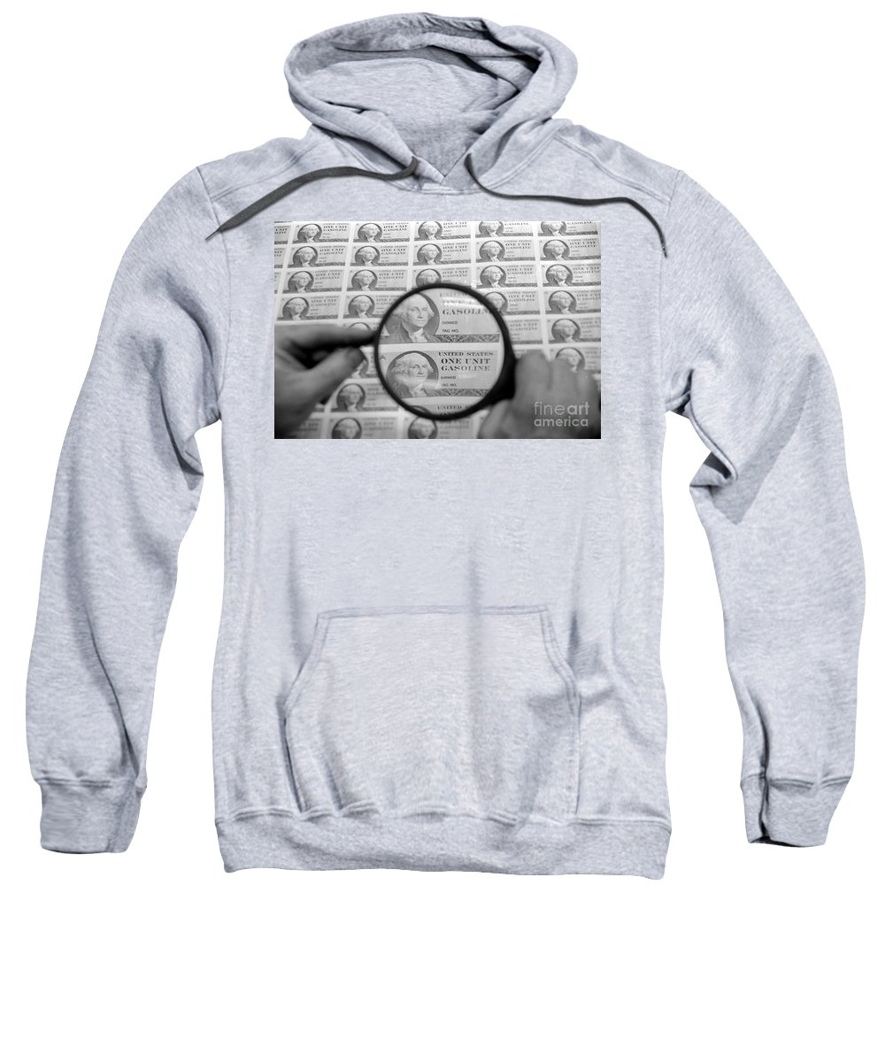 1974 Sweatshirt featuring the photograph Oil Crisis, 1974 by Granger