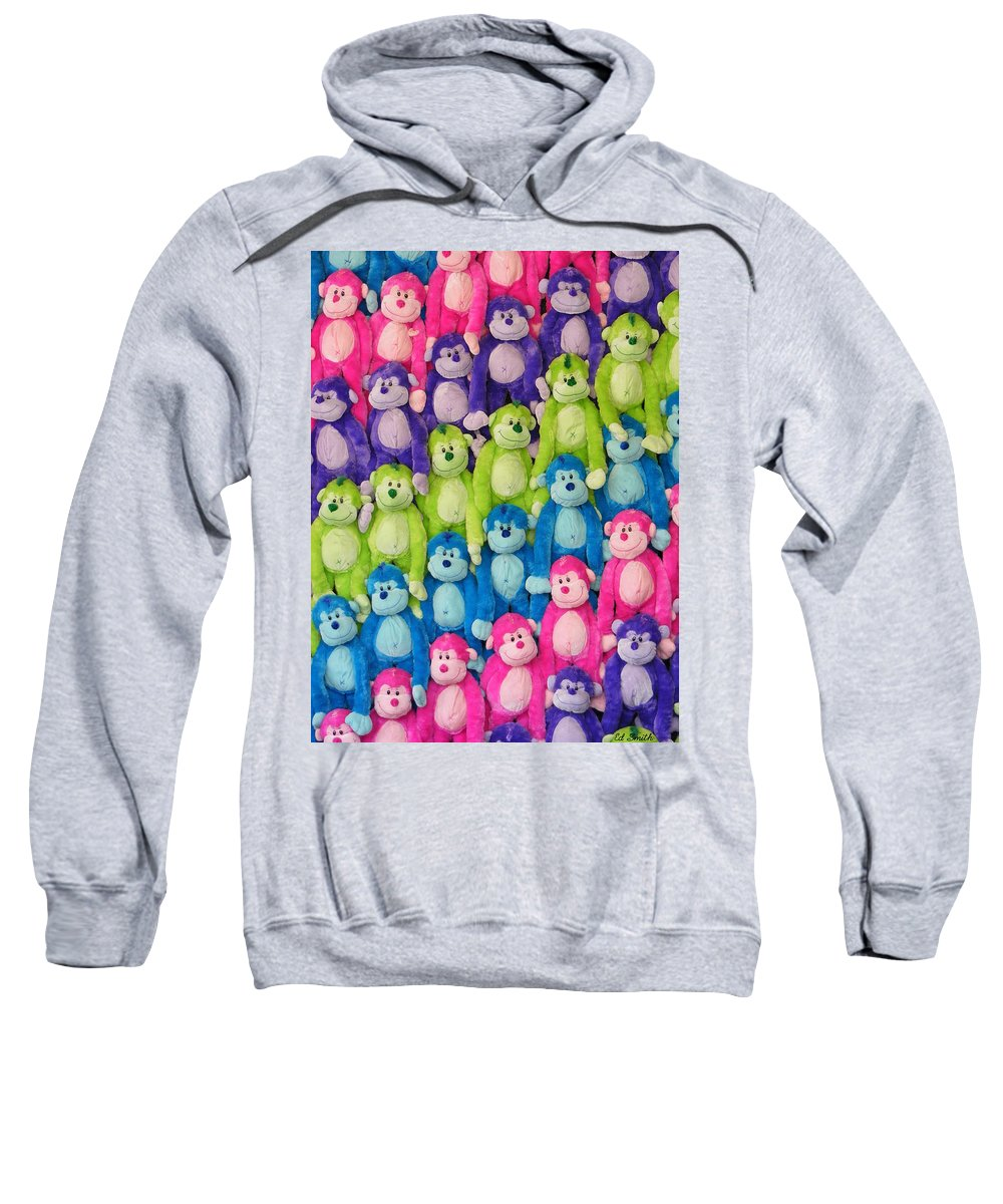 Ok Smiles Sweatshirt featuring the photograph Ok Smiles Everyone by Ed Smith