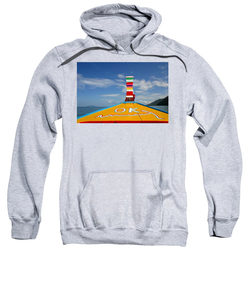 Sweatshirt featuring the photograph Okay In Thailand by Minaz Jantz