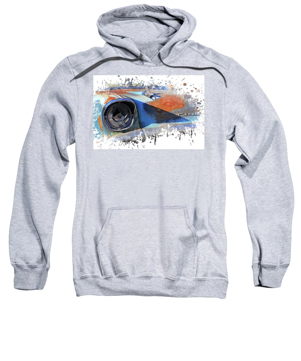 Chevy Sweatshirt featuring the photograph Ol 57 by Christopher McKenzie
