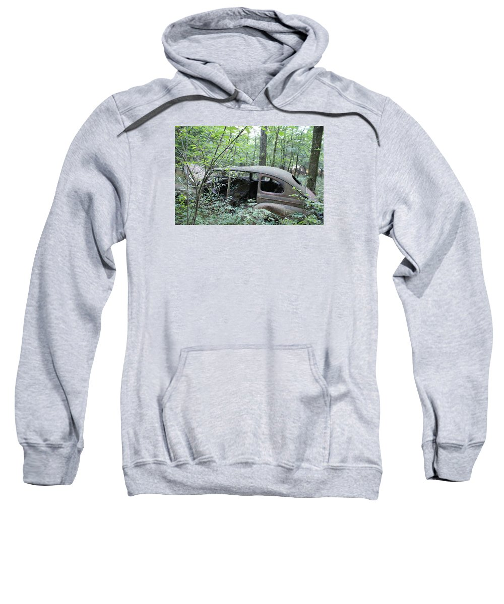 Abandoned Car Sweatshirt featuring the photograph Old abandoned car by Toni Berry