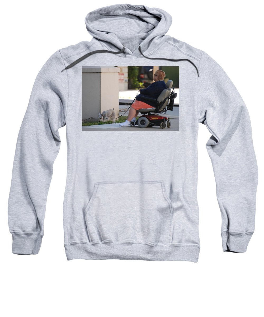 Women Sweatshirt featuring the photograph Old Barefoot Women by Rob Hans