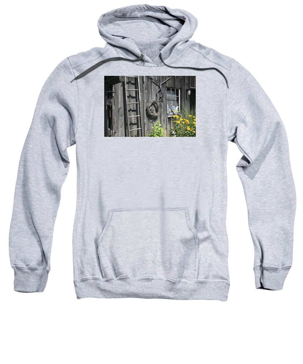 Barn Sweatshirt featuring the photograph Old Barn II by Margie Wildblood