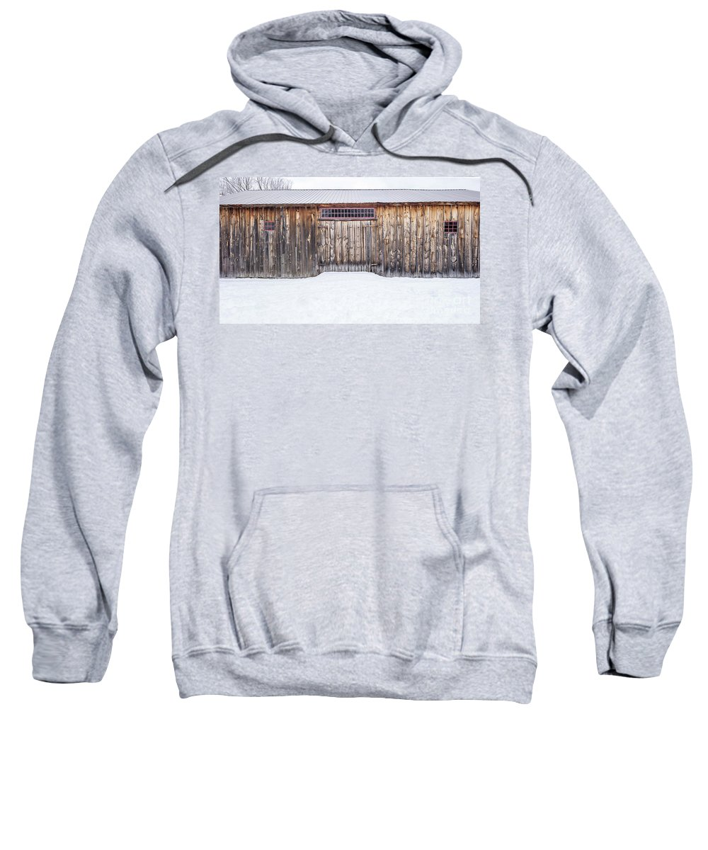 New England Sweatshirt featuring the photograph Old Barn Musterfield Farm by Edward Fielding
