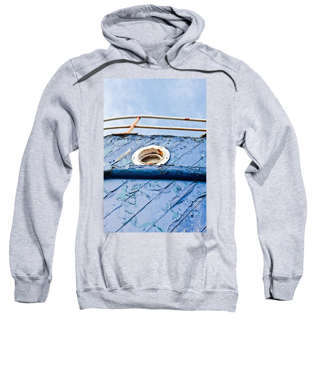 Abandoned Sweatshirt featuring the photograph Old Boat by Tom Gowanlock