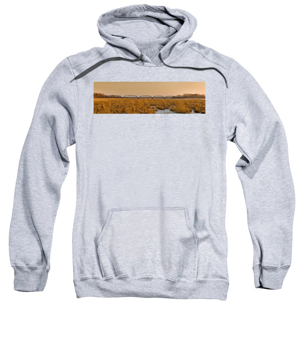 Americas Sweatshirt featuring the photograph Old Cedar Road Bridge by Roderick Bley