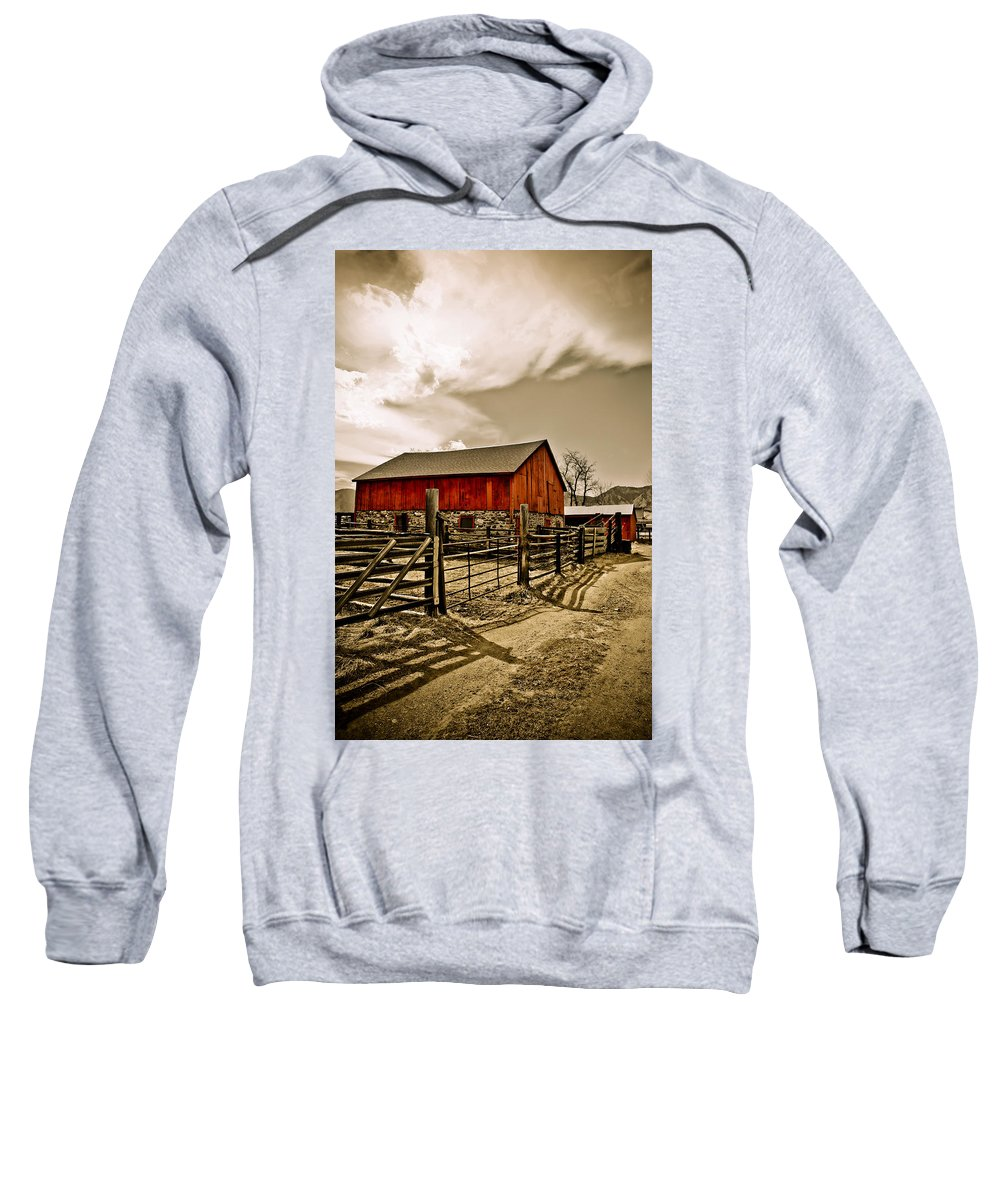 Americana Sweatshirt featuring the photograph Old Country Farm by Marilyn Hunt