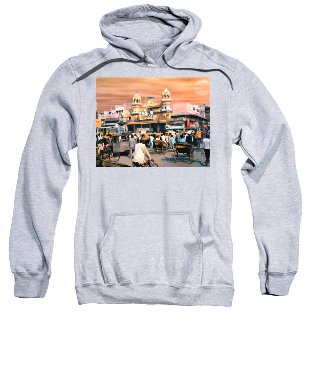India Sweatshirt featuring the photograph Old Dehli by Kurt Van Wagner
