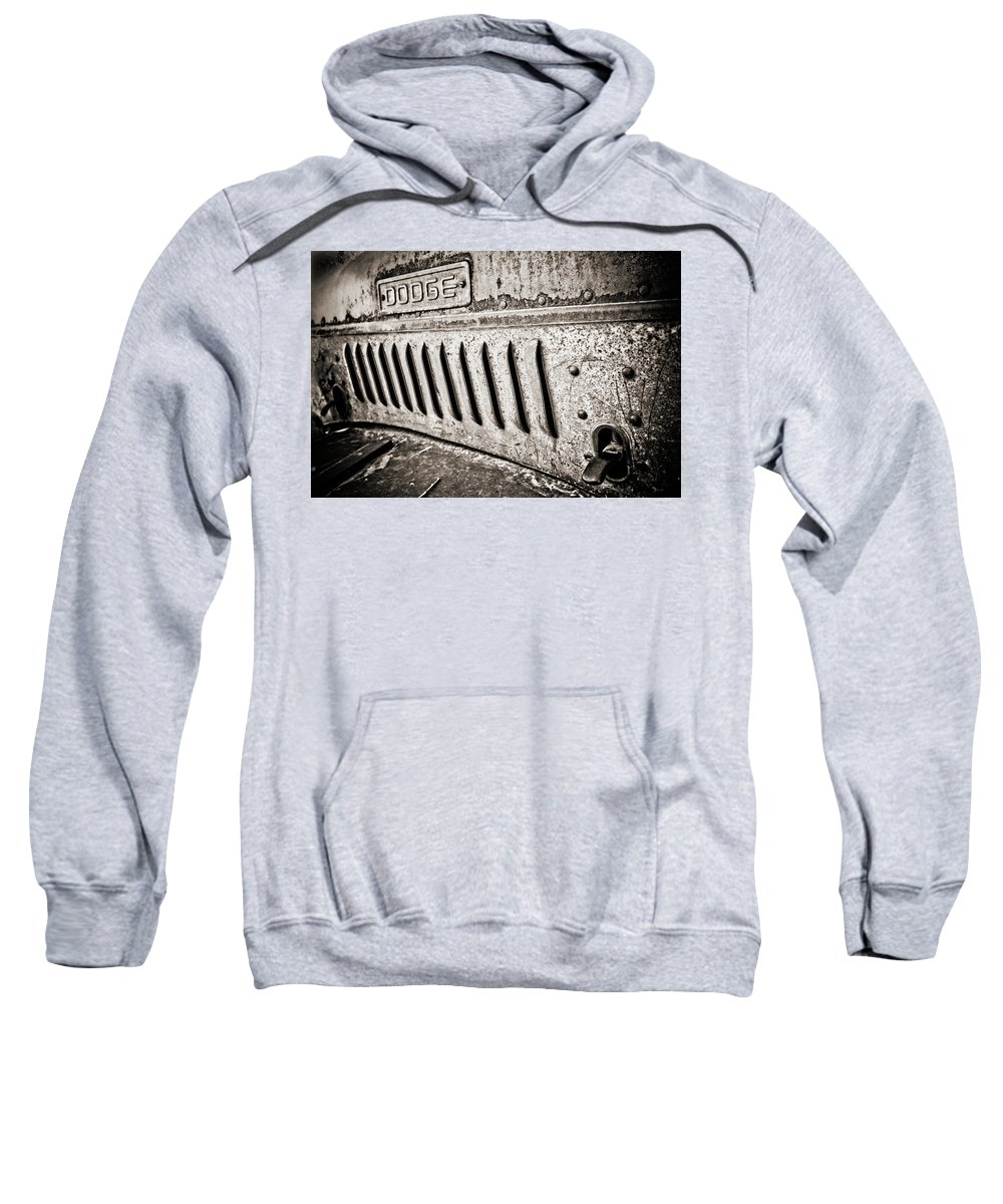 Americana Sweatshirt featuring the photograph Old Dodge Grille by Marilyn Hunt