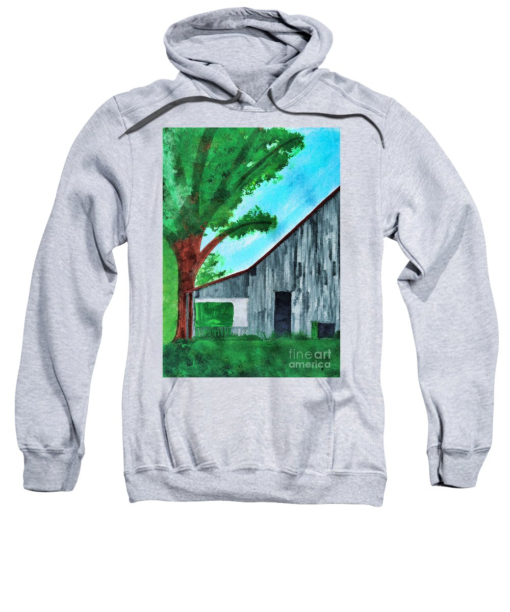 Illustration Sweatshirt featuring the painting Old Florida Barn by D Hackett