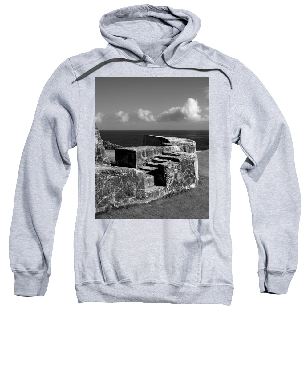 Fort Sweatshirt featuring the photograph Old Fort Steps 2 by Perry Webster