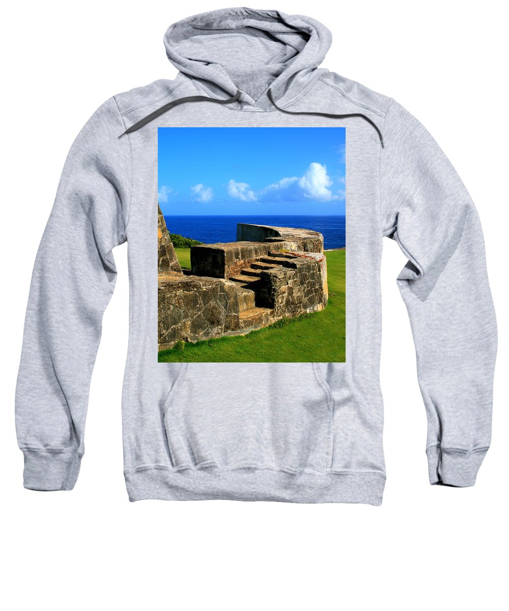 Fort Sweatshirt featuring the photograph Old Fort Steps by Perry Webster