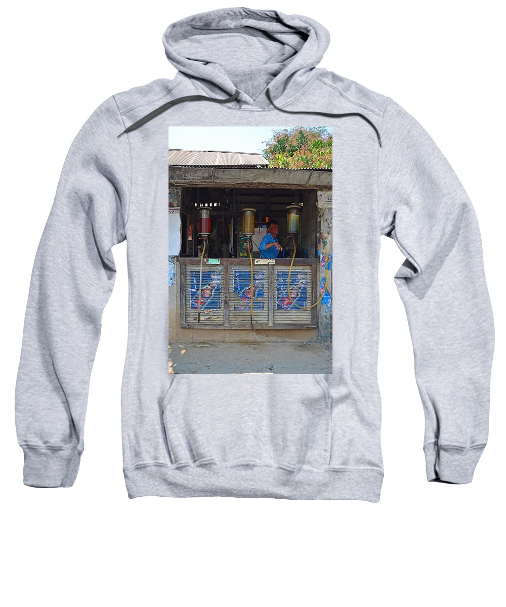 Gas Pump Sweatshirt featuring the photograph Old Gas Station by David Hohmann
