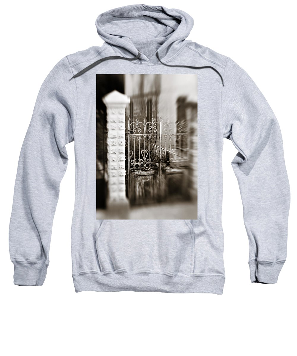 Old Sweatshirt featuring the photograph Old Heart Gate by Marilyn Hunt