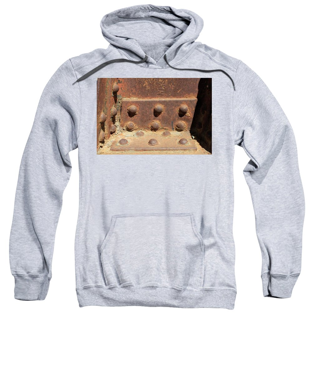 Old Iron Hinges Sweatshirt featuring the photograph Old Iron Hinges by Rose Webber Hawke