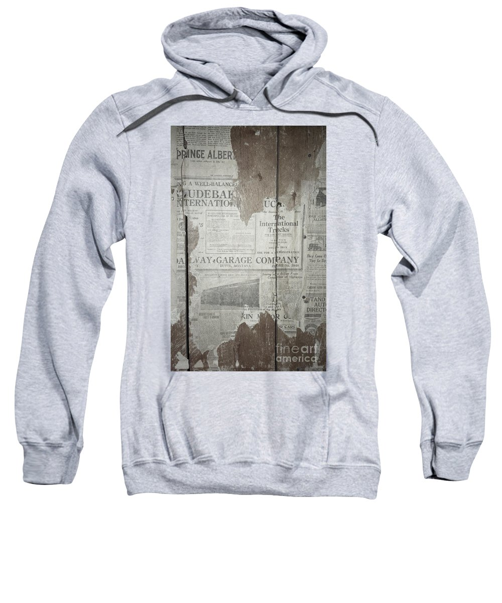 Newspapers Sweatshirt featuring the photograph Old News by Richard Rizzo
