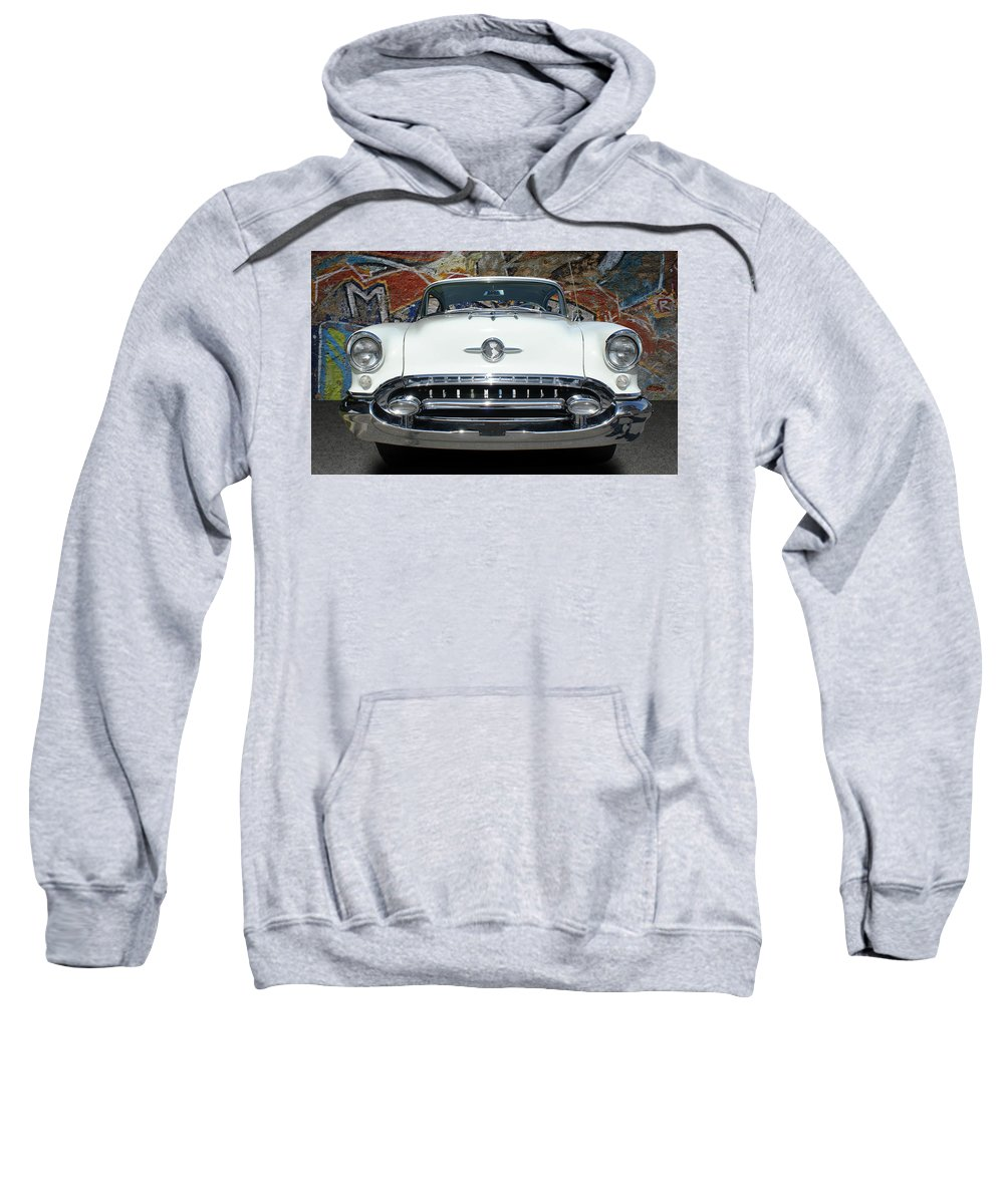 Cars Sweatshirt featuring the photograph Old Oldsmobile by Nancy Aurand-Humpf