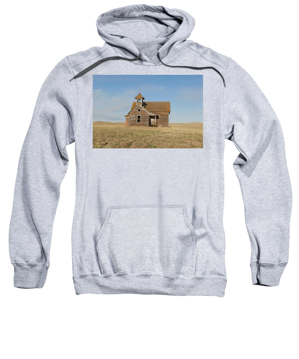 School Sweatshirt featuring the photograph Old One Room School House by Jeff Swan