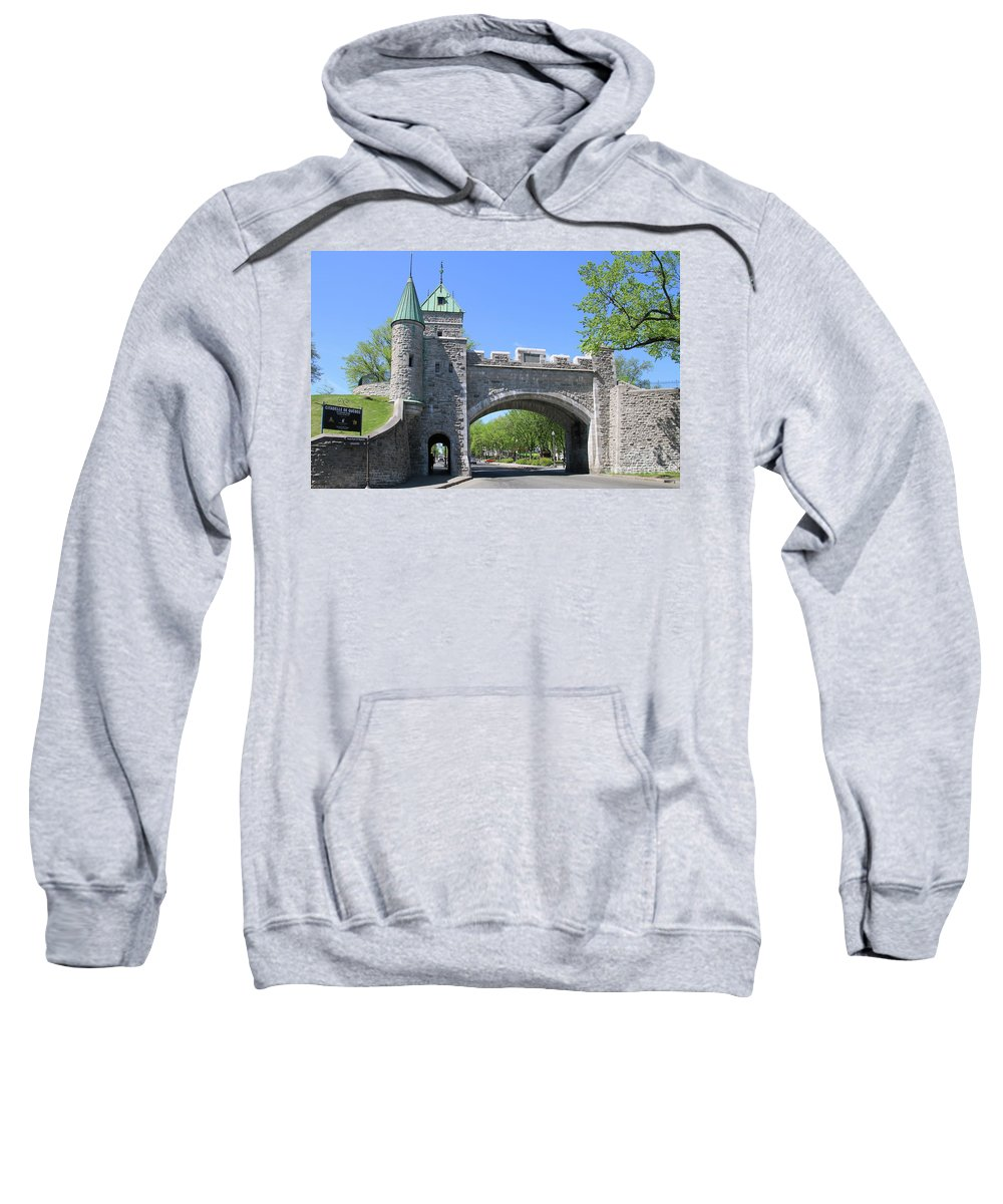 Old Quebec City Wall Sweatshirt featuring the photograph Old Quebec City Wall Quebec City 6358 by Jack Schultz