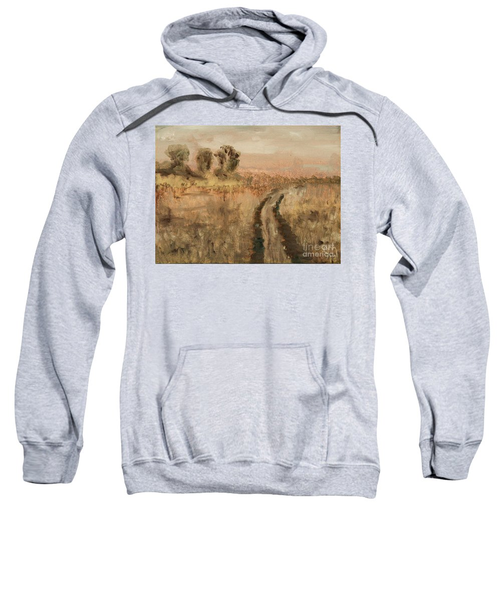 Dirt Road Sweatshirt featuring the painting Old Road by Jodi Monahan