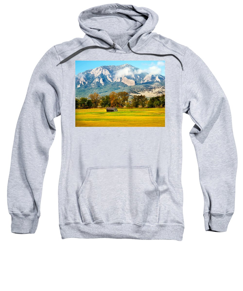 Rural Sweatshirt featuring the photograph Old Shed by Marilyn Hunt