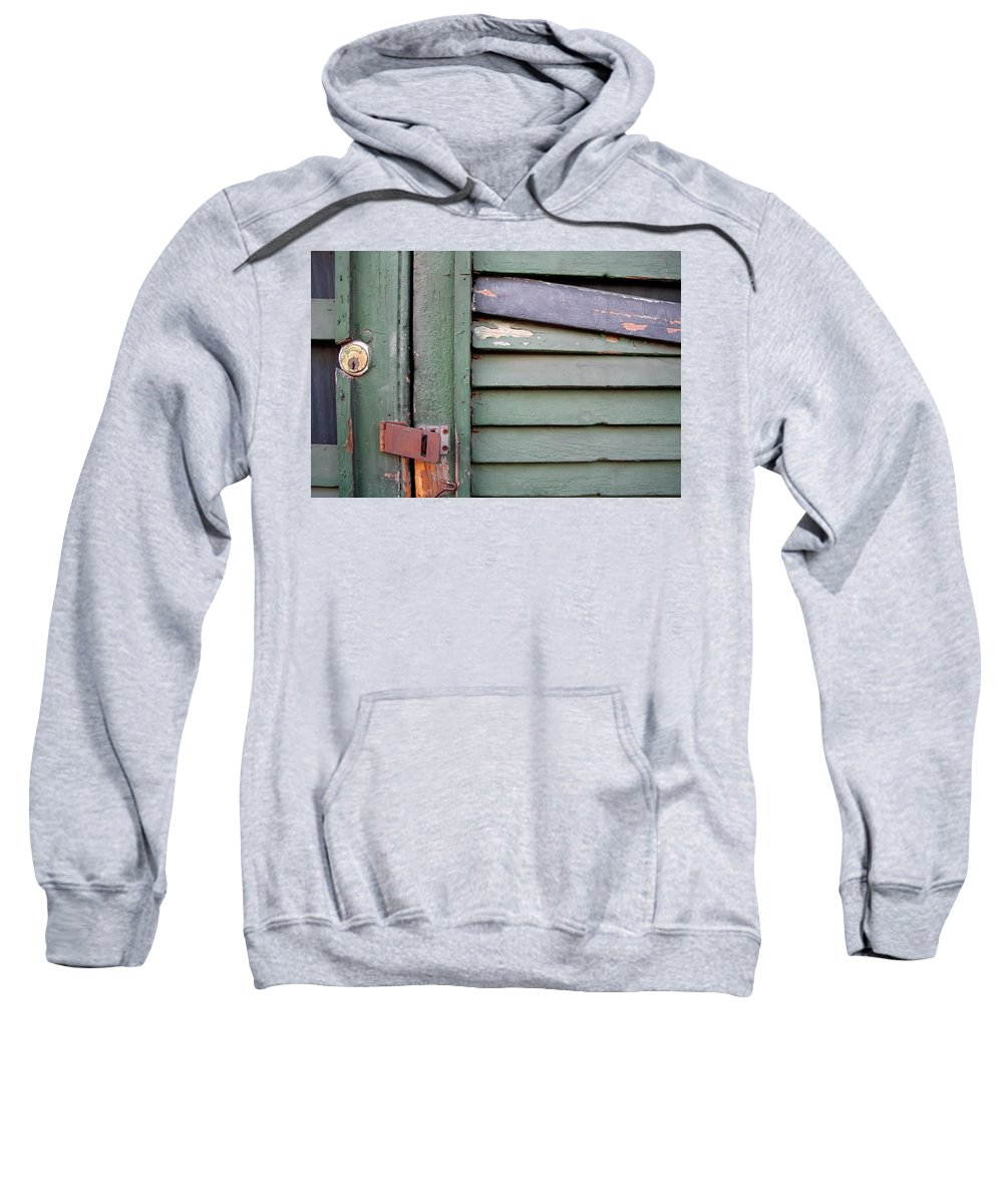 New Orleans Sweatshirt featuring the photograph Old Shutters French Quarter by KG Thienemann