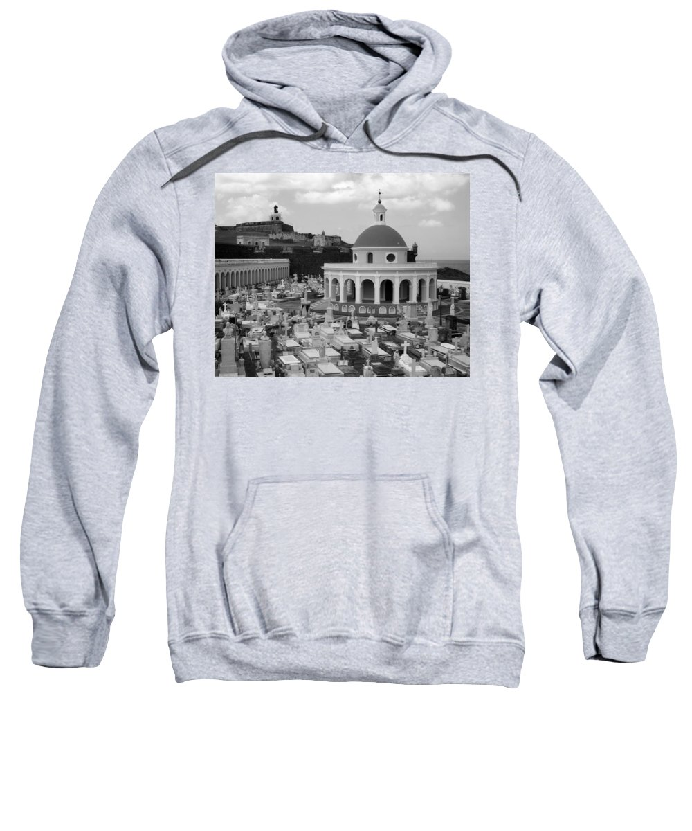 San Juan Sweatshirt featuring the photograph Old Spanish Graveyard by Perry Webster