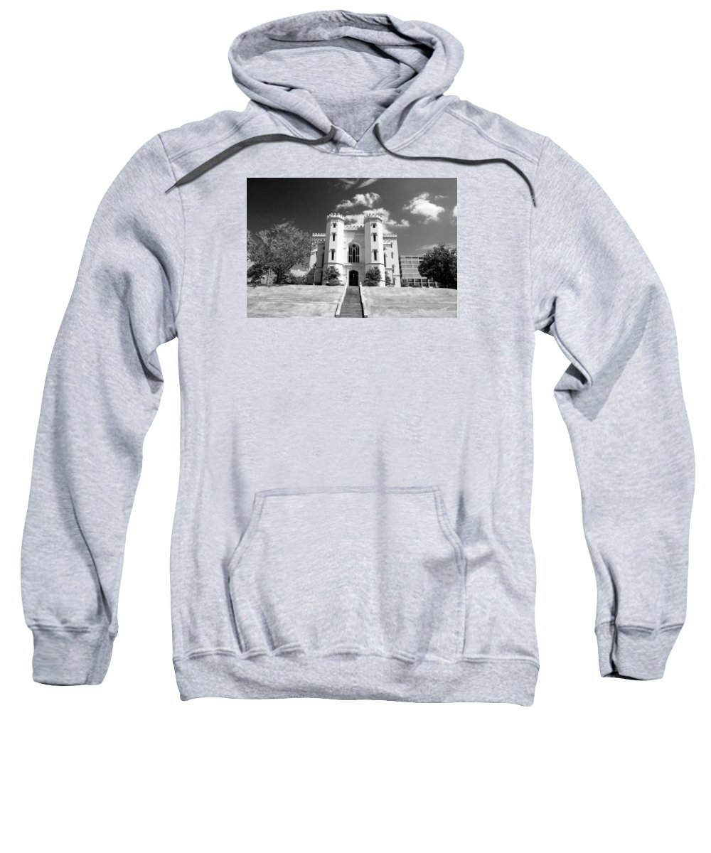 Buildings Sweatshirt featuring the photograph Old State Capital - Infared by Scott Pellegrin