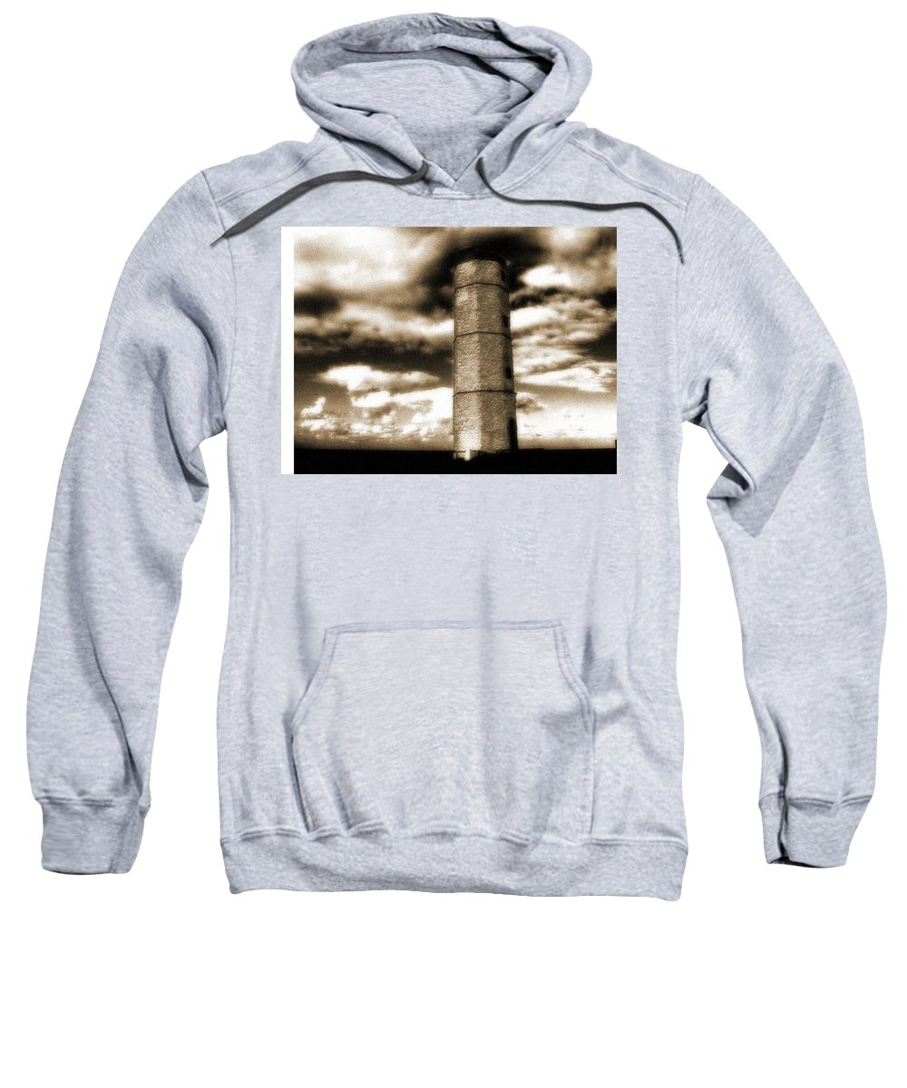 Old Lighthouse Tower Sweatshirt featuring the photograph Old Tower by Cliff Norton