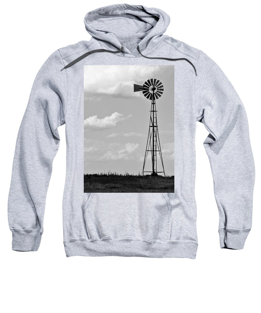 Agriculture Sweatshirt featuring the photograph Old Windmill II by Ricky Barnard