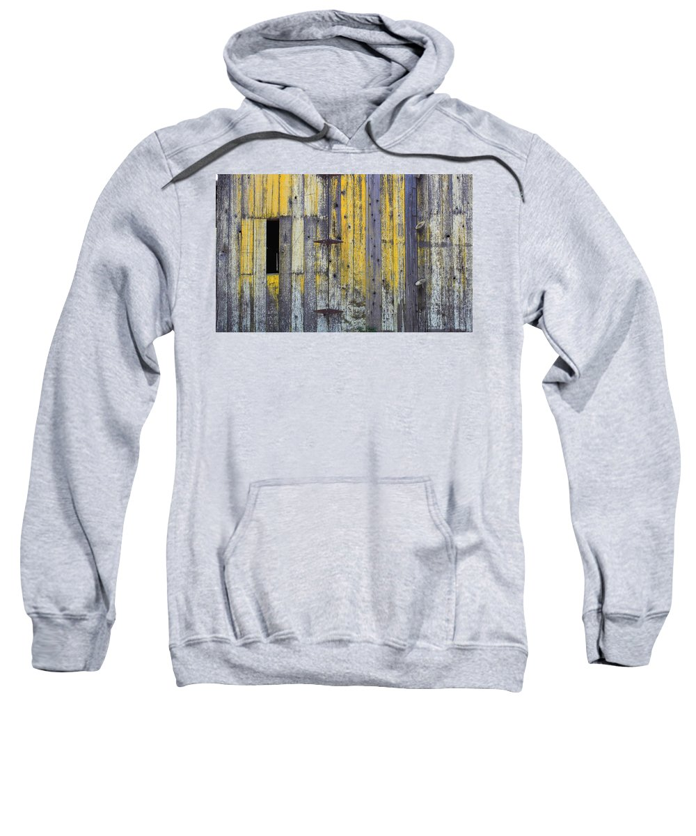 Aged Wood Sweatshirt featuring the photograph Old Wooden Barn by Rose Webber Hawke