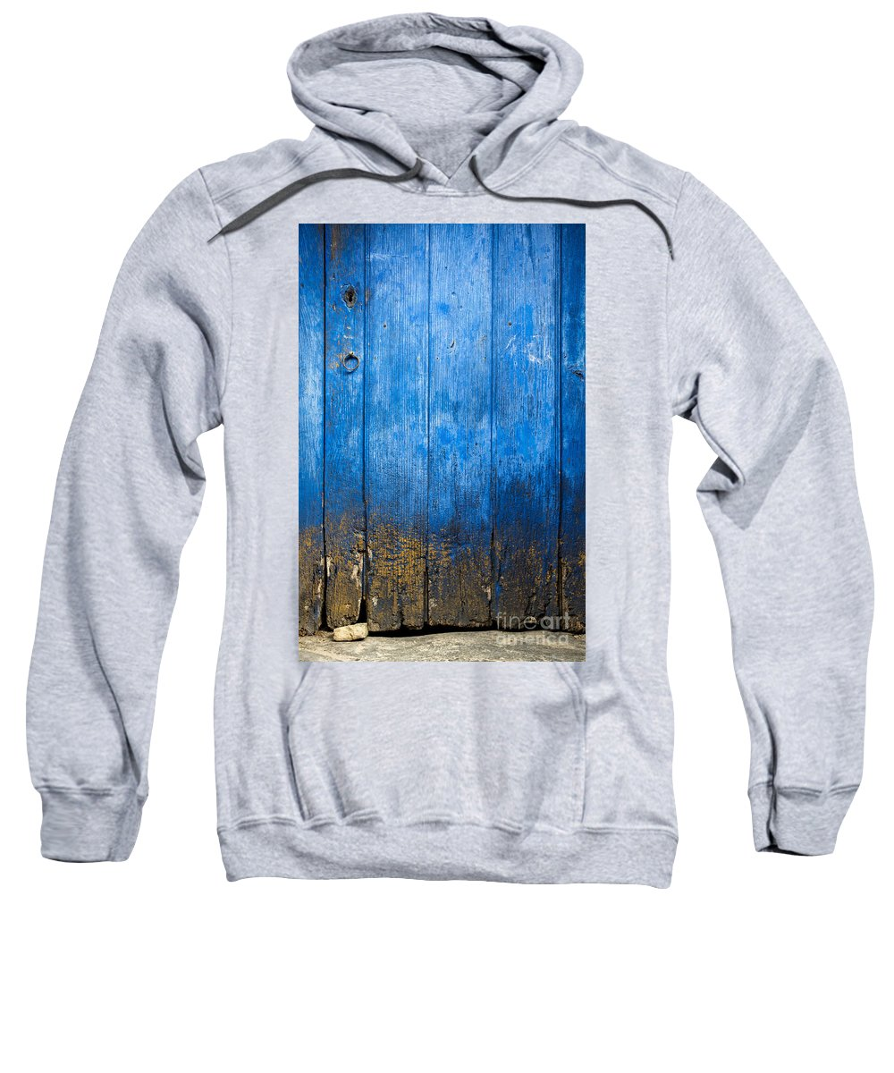 Abandoned Sweatshirt featuring the photograph Old Wooden Door by Carlos Caetano