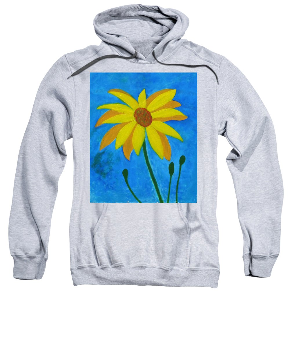 Sunflower Sweatshirt featuring the painting Old Yellow by John Scates