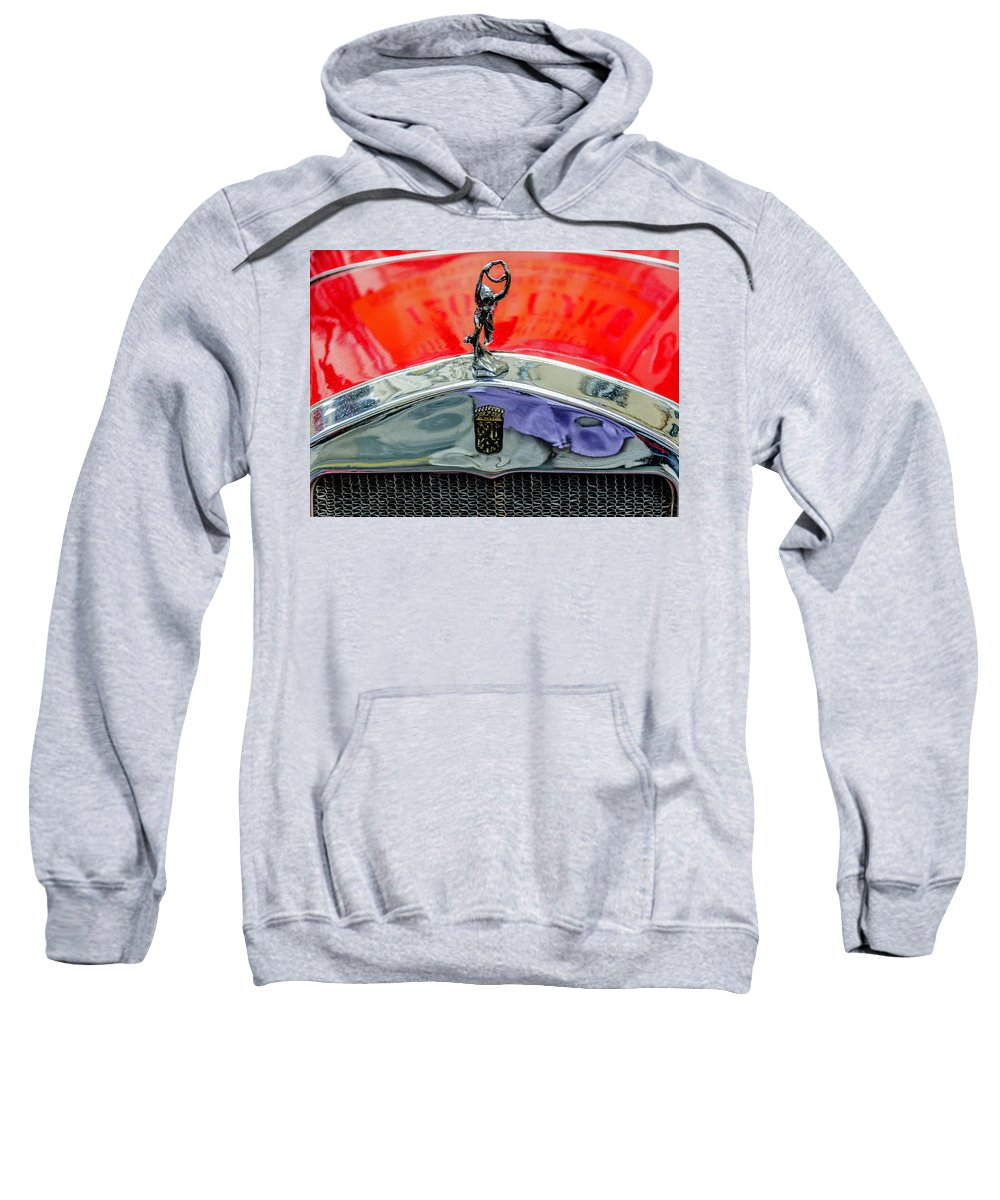 Old-car Sweatshirt featuring the photograph Oldtimer Prague 5 by Wolfgang Stocker