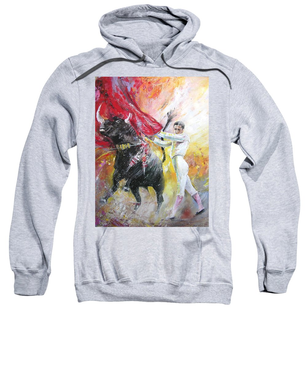 Animals Sweatshirt featuring the painting Ole by Miki De Goodaboom
