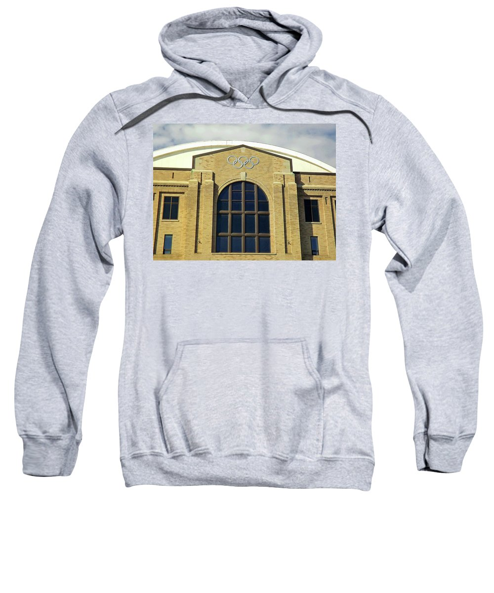 Olympic Center Sweatshirt featuring the photograph Olympic Center by Joseph F Safin