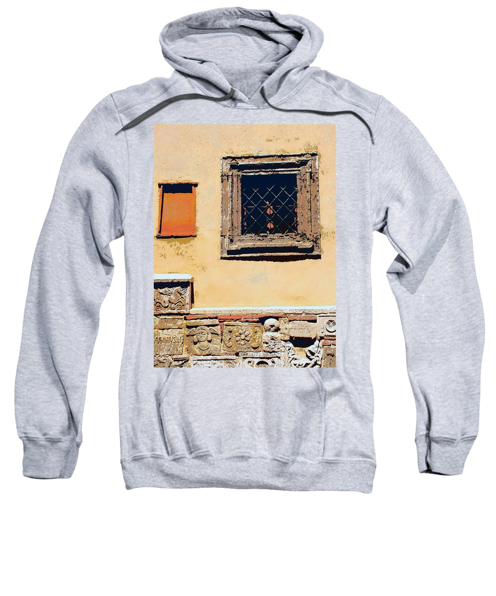 Omerta Sweatshirt featuring the mixed media Omerta by Dominic Piperata
