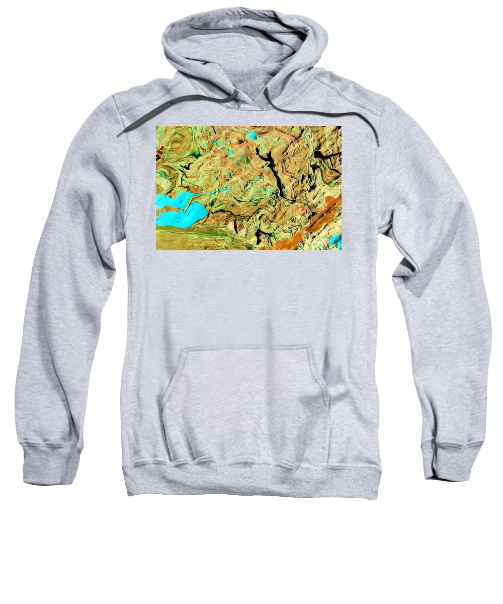 Solid Ground Sweatshirt featuring the painting On Solid Ground by Dawn Hough Sebaugh