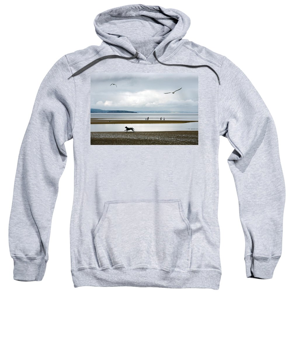 Beach Sweatshirt featuring the photograph On The Beach by Mal Bray