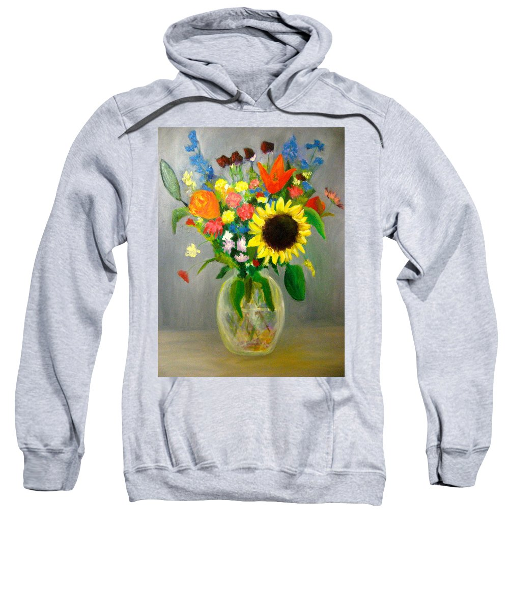 Autumn Sweatshirt featuring the painting On The Eve Of Autumn by Marita McVeigh